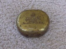 """VINTAGE -- WILLSON PRODUCTS METAL GOGGLES GLASSES CASE -- """"COLLECTIBLE"""""""
