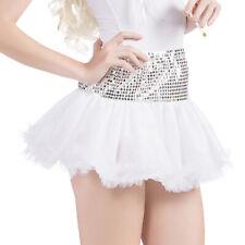 Women Layered Sequin Sparkle Tutu Skirt Petticoat Halloween Fancy Dress Costume