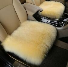 Real Australia Sheepskin Long Wool Hair Full Car Seat Covers winter warm Beige