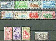 Barbados 1950 KGVI complete set of 12 to $2.40 LMM