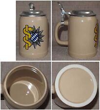 Bierkrug 0,5 L mit Zinn-Deckel Sanitätsdienst der Polizei