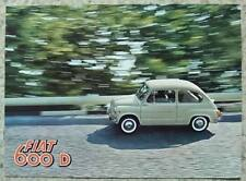 FIAT 600D CONVERTIBLE & MULTIPLA Car Sales Brochure 1961 #1651