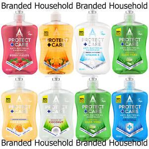 3 X ASTONISH ANTIBAC PROTECT MOISTURE SOAP LIQUID HAND WASH CHOOSE TYPE 650ML