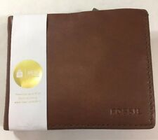 Fossil NWT, Brn Cognac Leather, ID Flap, Credit Card Pockets, Men's Wallet