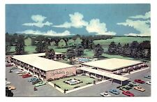 Holiday Inn Indiana Pennsylvania Postcard Swimming Pool Air Conditioned Vintage
