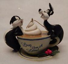 Looney Tunes Ornament, Pepe Le Pew & Penelope, Love You A Latte, Wb, Rare