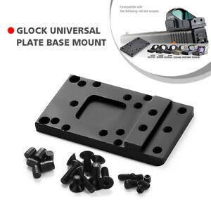 For Glock Universal Optic Mount Red Dot Sight Pistol Rear Sight Plate Base Mount