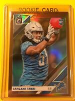 🔥🔥2019 OPTIC JAHLANI TAVAI GOLD PRIZM ROOKIE RC #120 Detroit Lions