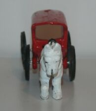 Vintage Cast Iron Horse and Ice Wagon