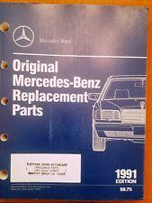 1991 Mercedes-Benz Replacement Parts Catalog - Mbna/Pd5110 12/90 - Original