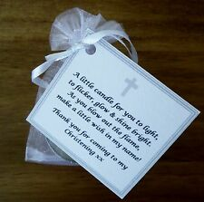 1-150 CHRISTENING / BAPTISM / CONFIRMATION CANDLES PERSONALISED FAVOURS