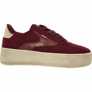 MTNG BURGUNDY BURDEOUS TRAINERS ~ Chunky Sole ~ Red ~ UK Size 3 (EUR 36) RRP £67