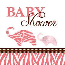 WILD SAFARI GIRL SMALL NAPKINS (16) ~ Baby Shower Party Supplies Cake Dessert