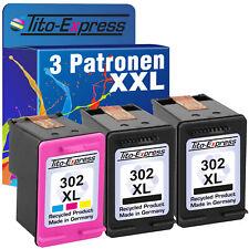 3 Patronen ProSerie für HP 302XL DeskJet 1110 1112 2130 2132 2134 3630 3631 3636