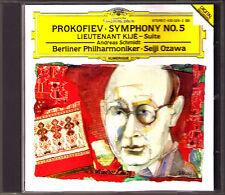 Seiji OZAWA: PROKOFIEV Symphony No.5 Lieutenant Kije Suite DG CD Andreas Schmidt