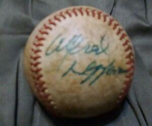 Alfred Longhorn signed baseball