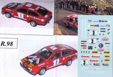 decal 1/43  ALFA ROMEO ALFETTA GTV gR.2 TOUR de CORSE 1975  TRON DER098