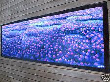 "150cm verbena fields  aboriginal art painting canvas australia commission 59"""