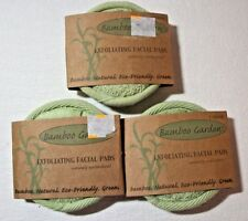 Bamboo Garden Exfoliating Facial Pads 3 packages (ea pk has 2) 6 total Brand New