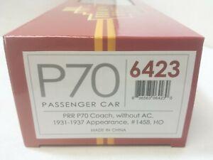 Pennsylvania Railroad P70 Passenger Coach Car #1458  Broadway Limited 6423