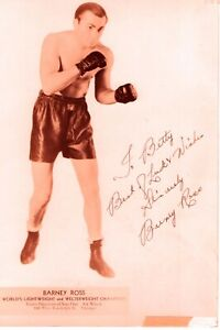 "Barney Ross Autographed Signed 8x10 Photo ""To Betty"""