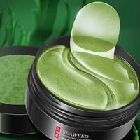 60pc Green Seaweed Eye Mask Anti Wrinkle Dark Circles Gel Skin Patches Care A6H4