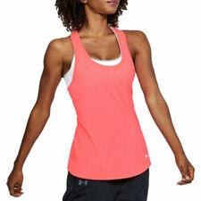 Under Armour UA Run Threadborne HeatGear Ladies Streaker Tank Pink Running Vest