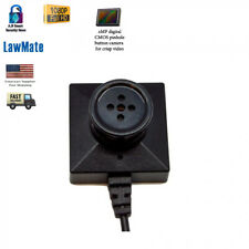 LawMate Hidden Spy Hd Dvr Security Mini Button Camera 1080P FULLHD High Quality
