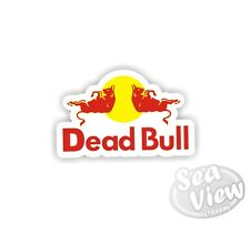 Dead Bull Car Van Sticker Decal Funny Logo Remake Stickers Red Bull
