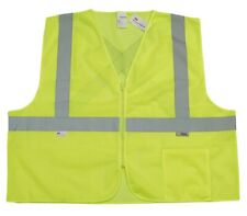 10 Ten High Visibility Mesh Safety Vests Zipper Front 3m Reflective Material