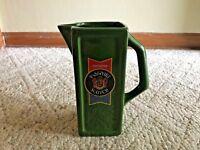 Vintage Imported PASSPORT Scotch Whiskey Green Pitcher Culvert Distillers NY G8
