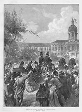 Berlín la llegada de la reina Victoria en Charlottenburg-Antiguo impresión 1888