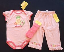 NWT Gymboree Tropical Oasis 12-18 Months Pineapple Sweet Bodysuit Pants & Socks