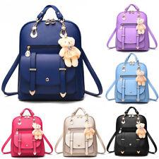 Women Leather Backpack Shoulder Bag Rucksack Schoolbag Satchels Travel Handbags