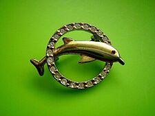 Brosche-  Anstecknadel - Fisch -Delfin mit Strass