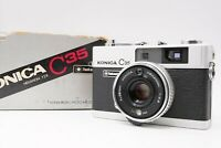 [MINT w/ Box] KONICA C35 Flash matic 35mm Rangefinder / 38mm f/2.8 From Japan