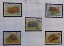 1995 AZERBAIJAN TURTLES & TORTISES SET 5 CTO USED STAMPS