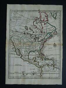 1756 LE ROUGE  Atlas map  NORTH AMERICA - Amerique Septentrionale