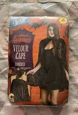 NEW Halloween Velour Hooded Cape - Fancy Dress Up Adult Size 8-16  8 10 12 14 16