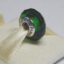 Authentic Pandora Charm  Fascinating Green Murano 791619