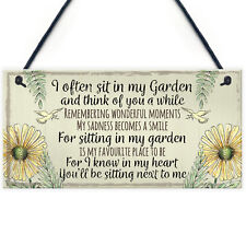Garden Plaque Summer House Sign Garden Shed Friendship Mum Nan Memorial Gift