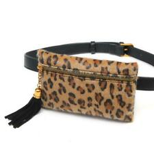 Leopard Print Women Fanny Pack Plush Waist Pack Mini Belt Bag Phone Bag Wallet