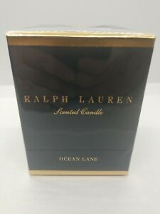 Ralph Lauren Home Fragrance - Ocean Lane Polo Scented Candle Blue - NEW, Sealed