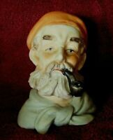 Vintage Original Arnart Creation JAPAN Man's head figure- Fisherman/Pirate-pipe