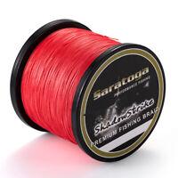 8 Strands Red PE Power TOP Dyneema Braid Fishing Line 100M/300M/500M/1000M