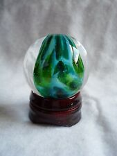 Beautiful Clear Marble w Multi Green Inside - 40.6 mm & 89 grams