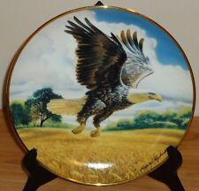 AMBER WAVES OF GRAIN plate by Ronald Van Ruyckevelt Franklin Mint Bald Eagle