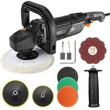 Polisher, TACKLIFE Buffer Polisher 180MM 1500W, with 6 Variable Speeds, Digital