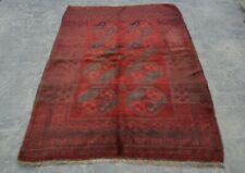 Stunning hand knotted Afghan Vintage rug 100% wool / tribal rug /oriental rug