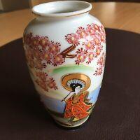 Extra Feine japanische Vase - Super Bemalung Und dünn!